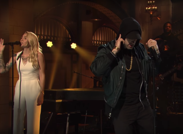 """Walk on Water/Stan/Love the Way You Lie (Medley)"": Eminem & Skylar Grey Live at SNL (Video)"
